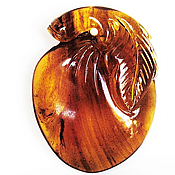 Украшения ручной работы. Ярмарка Мастеров - ручная работа Бирманский Янтарь резная подвеска 12.45 карат 29х23 мм. Handmade.