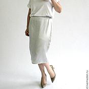 Одежда ручной работы. Ярмарка Мастеров - ручная работа Серебряная шёлковая юбка. Handmade.
