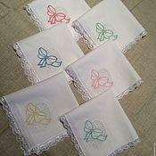 Для дома и интерьера handmade. Livemaster - original item Set of napkins embroidered