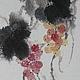 китайская живопись японская живопись суми-э фен-шуй Картина виноград картина дождь украшение гостиной домашний интерьер дизайн столовой восточный стиль красивый интерьер дорогой подарок для