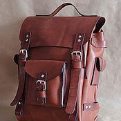 handmade. Livemaster - original item Leather Hiking backpack, backpack leather, buy. Handmade.