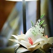 Цветы и флористика ручной работы. Ярмарка Мастеров - ручная работа цветочная композиция настольная. Handmade.