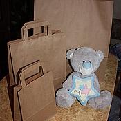 Материалы для творчества handmade. Livemaster - original item LARGE Kraft bags with flat handles. Handmade.