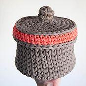 Для дома и интерьера ручной работы. Ярмарка Мастеров - ручная работа Корзина с крышкой. Handmade.
