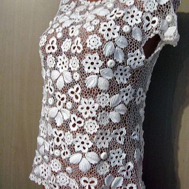 Одежда ручной работы. Ярмарка Мастеров - ручная работа Топы: Ирландское кружево. Топ.. Handmade.