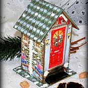 """Для дома и интерьера ручной работы. Ярмарка Мастеров - ручная работа Чайный домик """"Новогоднее настроение"""". Handmade."""
