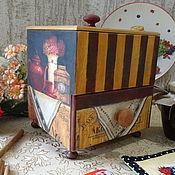 """Для дома и интерьера ручной работы. Ярмарка Мастеров - ручная работа Короб для чая и сладостей """"СКАЗКА"""". Handmade."""
