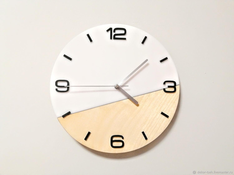 Часы настенные в скандинавском стиле, Часы классические, Челябинск,  Фото №1
