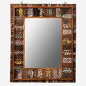 Для дома и интерьера handmade. Livemaster - original item Mirror with wooden frame