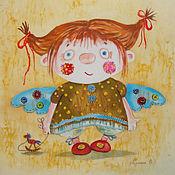 Картины и панно ручной работы. Ярмарка Мастеров - ручная работа Текстильный ангел ( батик панно). Handmade.