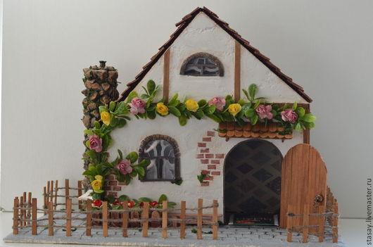 """Кухня ручной работы. Ярмарка Мастеров - ручная работа. Купить Чайный домик """"Мамина усадьба"""". Handmade. Разноцветный, скрап бумага"""