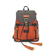 Сумки и аксессуары handmade. Livemaster - original item Backpacks: Bag backpack women`s leather brown red Lissie. Handmade.