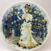 Винтаж handmade. Livemaster - original item IS71440 Plate decorative collectible Limoges girl. Handmade.
