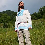 Русский стиль handmade. Livemaster - original item Men`s Russian shirt