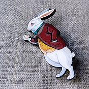 Украшения ручной работы. Ярмарка Мастеров - ручная работа Белый кролик. брошь. Handmade.