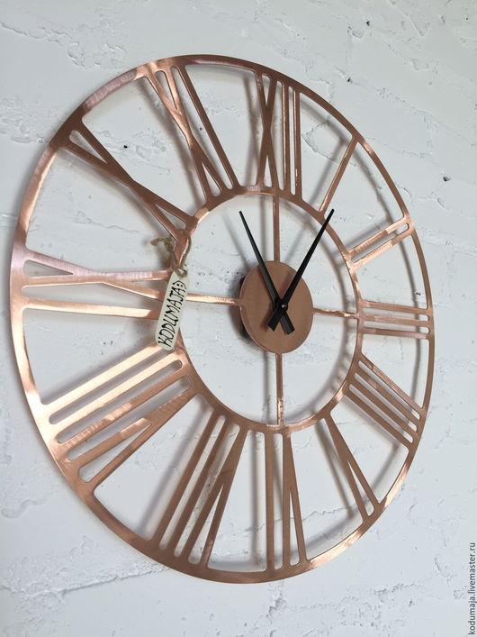 """Часы для дома ручной работы. Ярмарка Мастеров - ручная работа. Купить Часы 40см из меди  """"Rooma-vask"""". Handmade. Часы"""