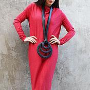 """Одежда ручной работы. Ярмарка Мастеров - ручная работа Платье """"Hot Red"""" D0011. Handmade."""