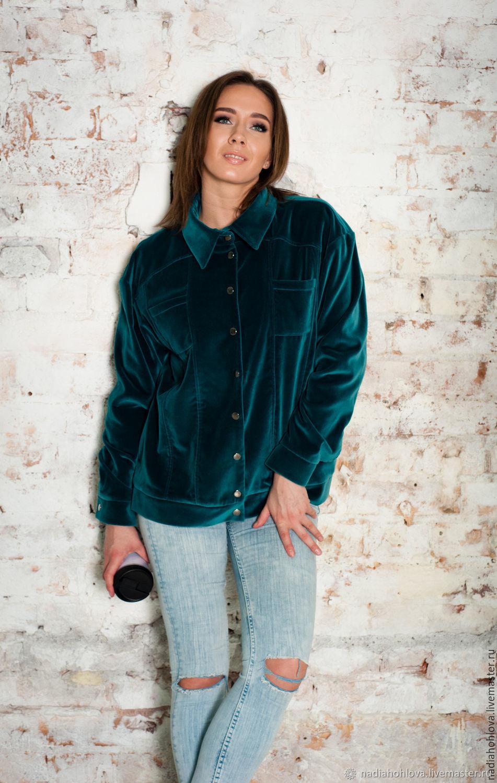 """Верхняя одежда ручной работы. Ярмарка Мастеров - ручная работа. Купить Куртка """"Лазурный бархат"""". Handmade. Куртка, женская мода"""
