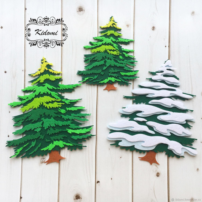 Cutting of felt ' Christmas Tree', Felts, Kazan,  Фото №1