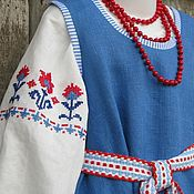 Русский стиль handmade. Livemaster - original item Russian costume for girls-2. Handmade.