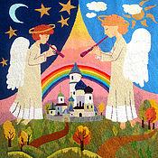 Картины и панно handmade. Livemaster - original item Embroidery.Angels.. Handmade.
