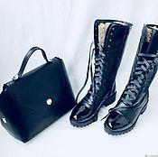 Boots handmade. Livemaster - original item Boots with a high shaft. Handmade.