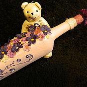 Посуда ручной работы. Ярмарка Мастеров - ручная работа ЦВЕТОПАД  высокая бутылка (без содержимого). Handmade.
