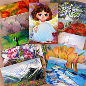 Открытки handmade. Livemaster - original item A set of author cards. Handmade.