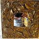 """Зеркала ручной работы. Ярмарка Мастеров - ручная работа. Купить Зеркало """"Осень"""". Handmade. Коричневый, акриловые краски, натуральные материалы"""