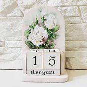 Канцелярские товары handmade. Livemaster - original item Shabby perpetual calendar 2. Handmade.