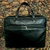 Сумки и аксессуары handmade. Livemaster - original item Mens leather business bag GANYMEDE. Handmade.