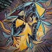 Картины и панно ручной работы. Ярмарка Мастеров - ручная работа Картина. Синие орхидеи. Handmade.