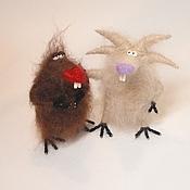 Куклы и игрушки ручной работы. Ярмарка Мастеров - ручная работа Крутые бобры. Handmade.