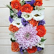 Цветы и флористика handmade. Livemaster - original item Arrangement in a box of flowers. Handmade.