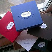 Сувениры и подарки ручной работы. Ярмарка Мастеров - ручная работа Коробочка с логотипом из дизайнерского картона. Handmade.