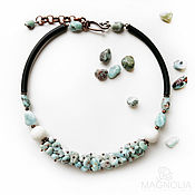 Украшения handmade. Livemaster - original item Choker necklace from larimar