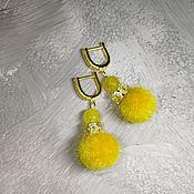 Украшения handmade. Livemaster - original item Earrings fur Winter sun. Handmade.