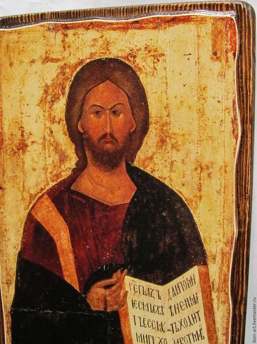 Икона Спас Вседержитель из Высоцкого деисусного чина Серпуховского монастыря воссоздана в нашей мастерской на левкасе.
