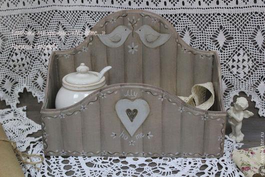 """Корзины, коробы ручной работы. Ярмарка Мастеров - ручная работа. Купить Коробочка для хранения в стиле кантри """"My home."""". Handmade."""
