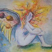 Картины и панно ручной работы. Ярмарка Мастеров - ручная работа фантазийные акварели. Handmade.
