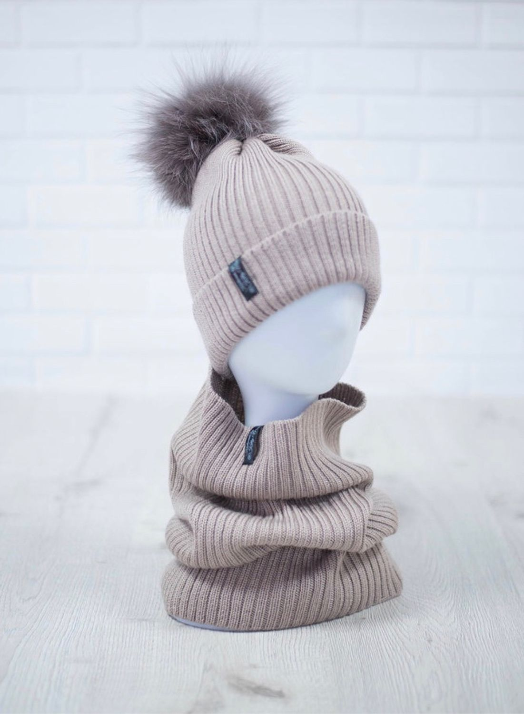Set of hat and cowl, Caps, Komsomolsk-on-Amur,  Фото №1