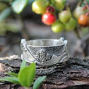 Украшения handmade. Livemaster - original item The mountains and the forest, a silver ring with black. Handmade.