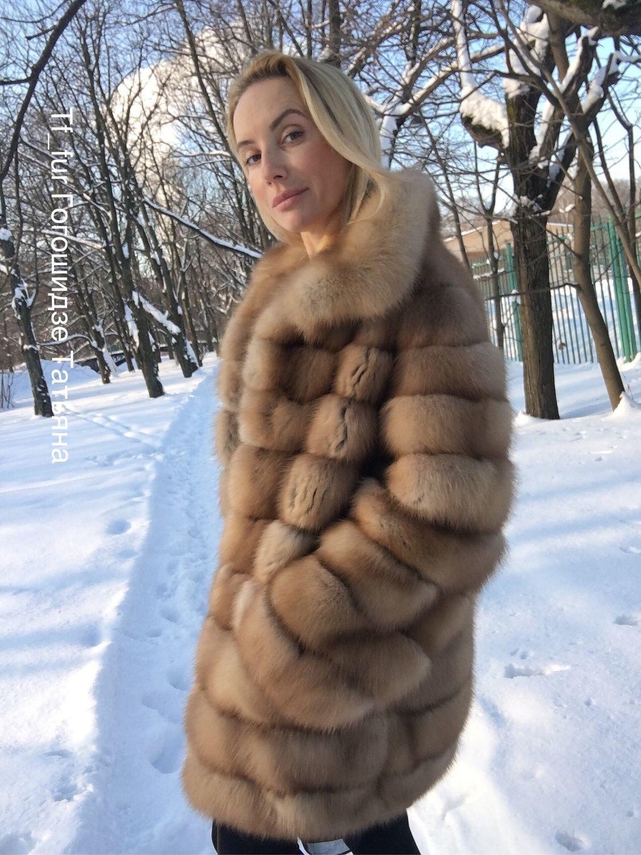 Шуба из Меха куницы, Шубы, Санкт-Петербург,  Фото №1