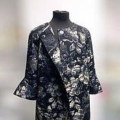 """Одежда handmade. Livemaster - original item Жаккардовое пальто """" Вечер в теплых тонах"""". Handmade."""