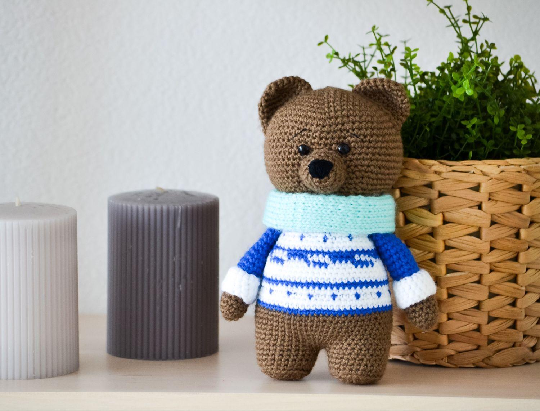 Мишка ручной работы, Мягкие игрушки, Барнаул,  Фото №1