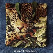 """Сумки и аксессуары ручной работы. Ярмарка Мастеров - ручная работа Сумка женская """"Леопард"""" из гобелена. Handmade."""