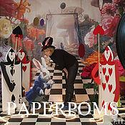 """Свадебный салон ручной работы. Ярмарка Мастеров - ручная работа Оформление зала в стиле """"Алиса в стране чудес"""". Handmade."""