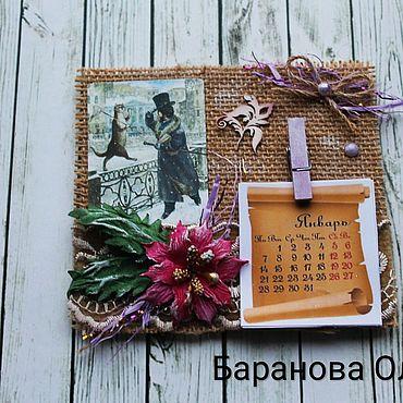 Сувениры и подарки ручной работы. Ярмарка Мастеров - ручная работа Календарь-магнит. Handmade.