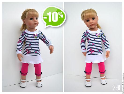 """Одежда для кукол ручной работы. Ярмарка Мастеров - ручная работа. Купить Комплект """"Бантики"""" для куклы Готц Gotz. Handmade. Комбинированный"""