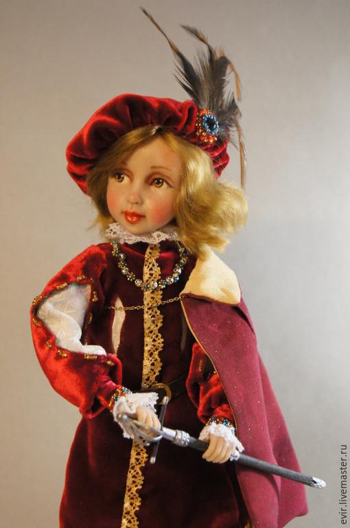 """Коллекционные куклы ручной работы. Ярмарка Мастеров - ручная работа. Купить """"Королевских кровей"""". Handmade. Бордовый, подарок, бисер"""
